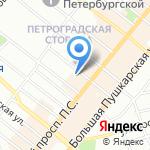 Курсор на карте Санкт-Петербурга