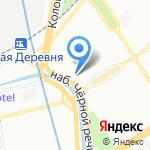 Лигион на карте Санкт-Петербурга
