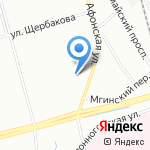 Modern на карте Санкт-Петербурга