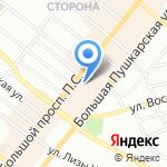 Отражение на карте Санкт-Петербурга