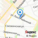 Детский сад №89 на карте Санкт-Петербурга