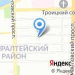 Лицей №281 на карте Санкт-Петербурга