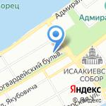 Русский стиль на карте Санкт-Петербурга