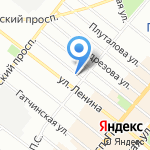 АК Барс банк на карте Санкт-Петербурга