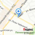 Звездочка на карте Санкт-Петербурга