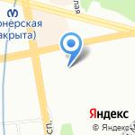 Магазин оптики и подарков на карте Санкт-Петербурга