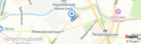 Шиномонтажная мастерская на Чкаловском проспекте на карте Санкт-Петербурга