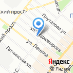 Муниципальное образование округ Аптекарский остров на карте Санкт-Петербурга