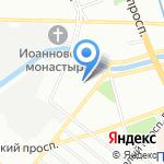 Берег на карте Санкт-Петербурга