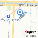 Астерия на карте Санкт-Петербурга