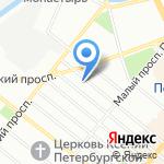 Детский сад №64 на карте Санкт-Петербурга