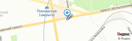 Шиномонтажная мастерская на Коломяжском проспекте на карте Санкт-Петербурга