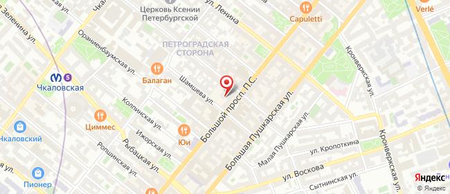 Карта расположения пункта доставки Санкт-Петербург Большой П.С в городе Санкт-Петербург