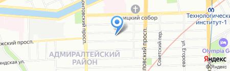 СИМа на карте Санкт-Петербурга
