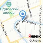 Сеть магазинов камуфлированной одежды на карте Санкт-Петербурга