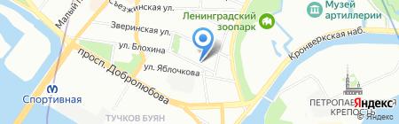 Яннисто Северо-Запад на карте Санкт-Петербурга