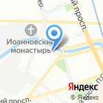 Еда на карте Санкт-Петербурга
