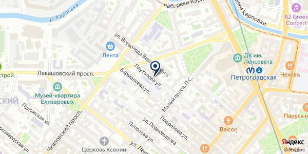 Берега на карте Санкт-Петербурге