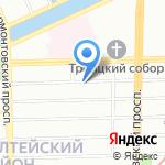 Командор-авто на карте Санкт-Петербурга