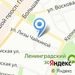 Инструментальный мир на карте Санкт-Петербурга