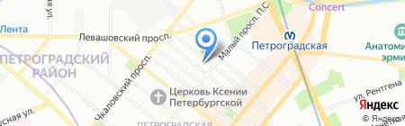 Тендер Джет на карте Санкт-Петербурга