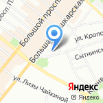 Каркасники на карте Санкт-Петербурга