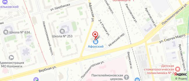 Карта расположения пункта доставки Санкт-Петербург Афонская в городе Санкт-Петербург