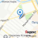 Международная Академия Прикладных Исследований на карте Санкт-Петербурга