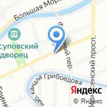 Муниципальное образование Адмиралтейский округ на карте Санкт-Петербурга