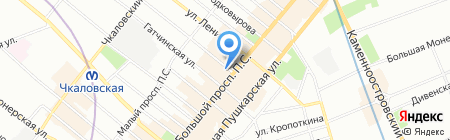Apriori на карте Санкт-Петербурга