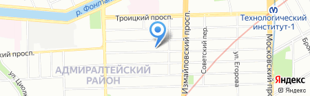 Строительный трест №3 на карте Санкт-Петербурга