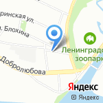 Стелла на карте Санкт-Петербурга
