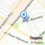 Воскова на карте Санкт-Петербурга