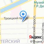 Северный свет на карте Санкт-Петербурга