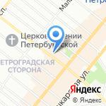 Суперлига на карте Санкт-Петербурга