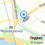 Толстый кот на карте Санкт-Петербурга