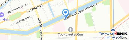 Алина на карте Санкт-Петербурга