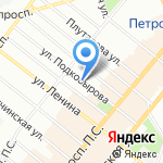 Еловая Аллея на карте Санкт-Петербурга