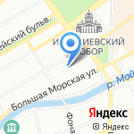 На Почтамтской на карте Санкт-Петербурга
