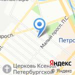 Раскат на карте Санкт-Петербурга