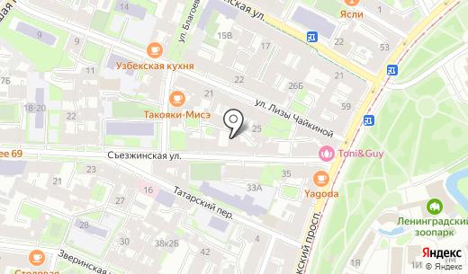 Мосса Инжиниринг. Схема проезда в Санкт-Петербурге