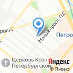 Ординарная 16 на карте Санкт-Петербурга