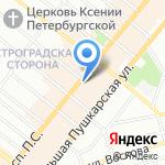 Аудиторы Северной Столицы на карте Санкт-Петербурга