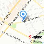 Балтэкс Сити на карте Санкт-Петербурга