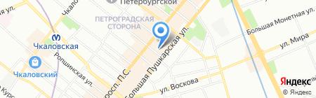 МарЛен на карте Санкт-Петербурга