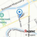 На грядке на карте Санкт-Петербурга