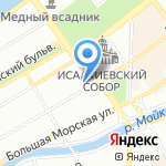 Красная линия на карте Санкт-Петербурга