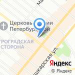 Ломбард на Петроградке на карте Санкт-Петербурга