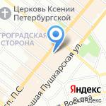 Новые Комнаты на карте Санкт-Петербурга