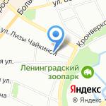 Сияние Глянца на карте Санкт-Петербурга